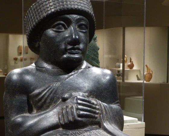 Шумеры кто такие, фрагмент статуи Гудеа - правитель шумерского города-государства Лагаш