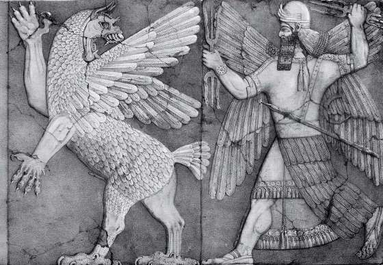 "Религия шумеров - битва Тиамат с богом Мардуком эпос ""Энума элиш""."