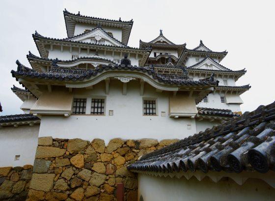 Замок Химэдзи вид с внутреннего двора замка.
