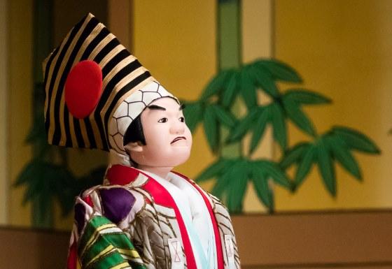 Кукла Бунраку Театр Осака.