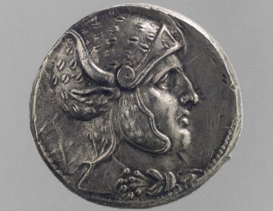 Монета с изображением царя Селевка I.