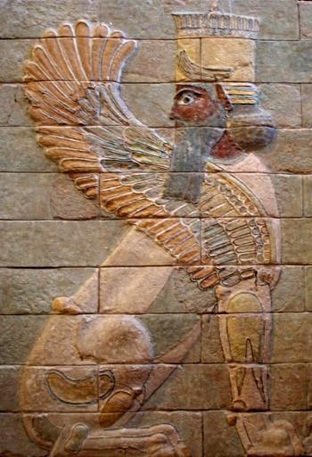 Персидский период города Сузы. Крылатый сфинкс из дворца Дария в Сузах