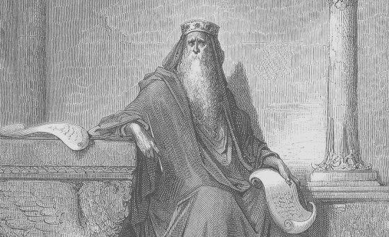 Густав Доре - Царь Соломон в преклонных летах