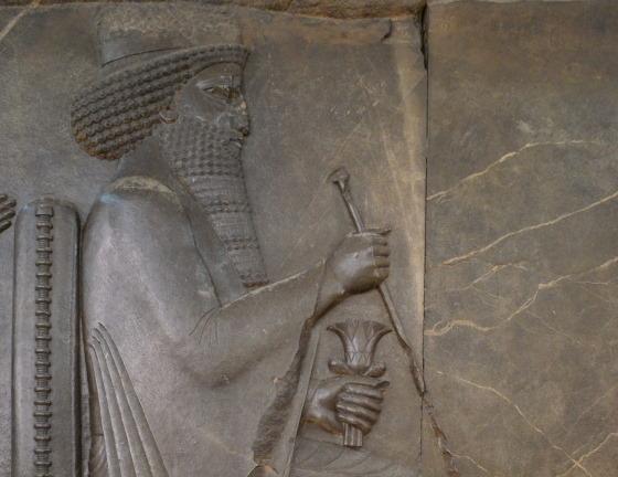 Царь Ксеркс I - барельеф с изображением персидского царя Ксеркса. Национальный музей Ирана.