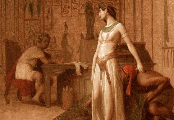 """Фрагмент Картины художника Жана-Леона Жерома - """"Царица Клеопатра и Цезарь"""" (1866г)"""
