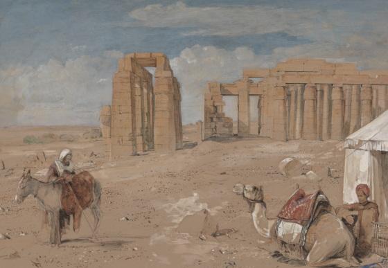 Рамессеум - заупокойный храм Рамсеса II Фивы. ancient-east.ru
