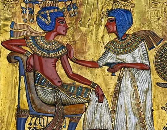 Царь Тутанхамон и Царица Анхесенамон.