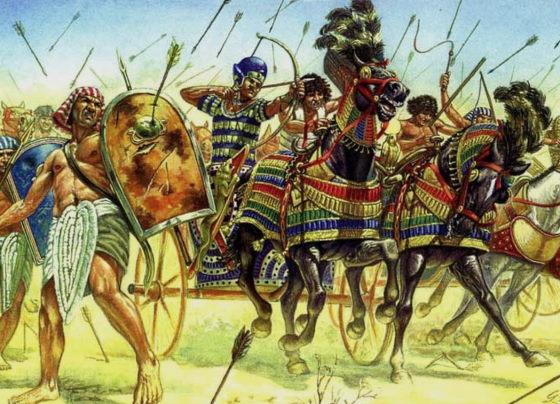Рисунок - Рамсес II в битве при Кадеше.